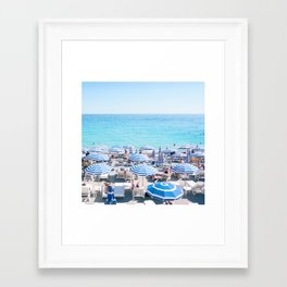 Umbrellas on the French Riviera, Nice Framed Art Print