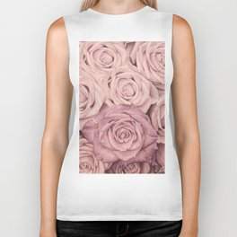 Some People Grumble - Pink Rose Pattern - Roses Biker Tank
