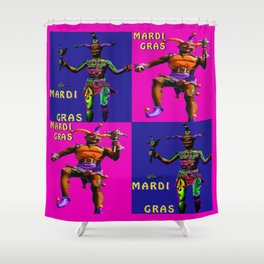 Mardi Gras Jester Twins Shower Curtain