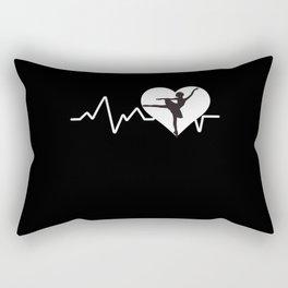Ballet Heartbeat Rectangular Pillow