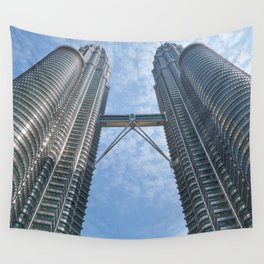 Petronas Twin Towers in Kuala Lumpur Malaysia Ultra HD Wall Tapestry