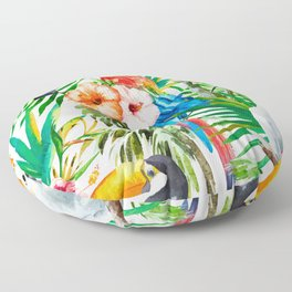 Tropical birds Floor Pillow