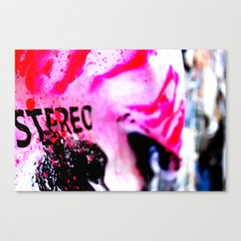 Pink poster Canvas Print