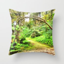 Mysterious Forest, Sintra (Portugal) Throw Pillow