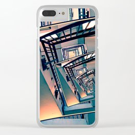 Infinite Spinning Stairs Clear iPhone Case