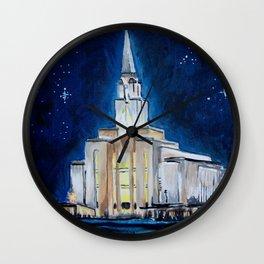 Oquirrh Mountain Utah LDS Temple Wall Clock