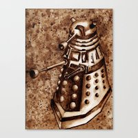 dalek Canvas Prints featuring Dalek by Redeemed Ink by - Kagan Masters
