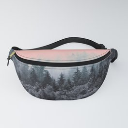 Forest in gray and pink Fanny Pack