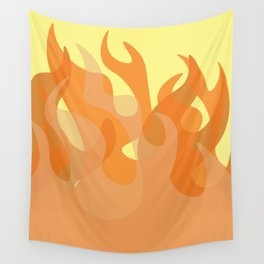 Pastel Flames Wall Tapestry