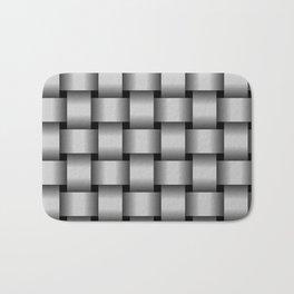 Large Light Gray Weave Bath Mat