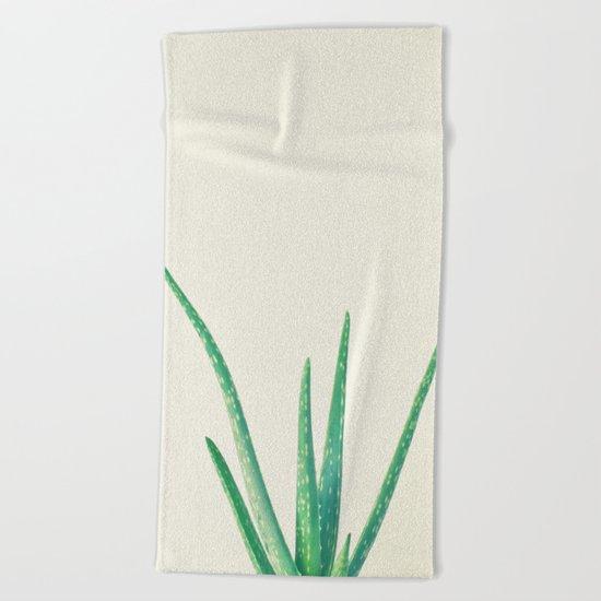 Aloe Vera Beach Towel