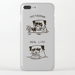 Instagram vs Real Life Clear iPhone Case