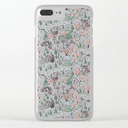 Enchanted Forest Map Clear iPhone Case