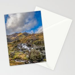 Mountain Footbridge Wales Stationery Cards