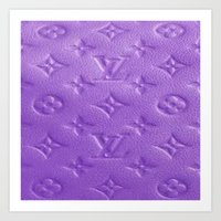 lv Art Prints featuring Purple LV  by Luxe Glam Decor