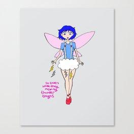Thunder Fairy Canvas Print