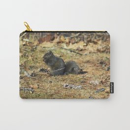 Black Squirrel Eating Pine Cones Carry-All Pouch