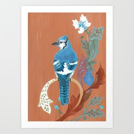 Morris' Birds - Blue Jay Art Print