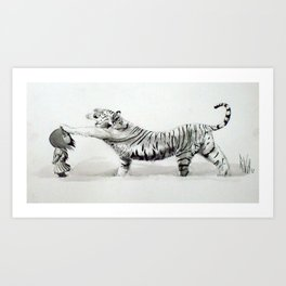 Wind & Tiger Art Print