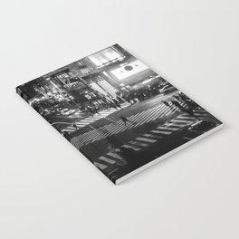 Shibuyacrossing at night - monochrome Notebook