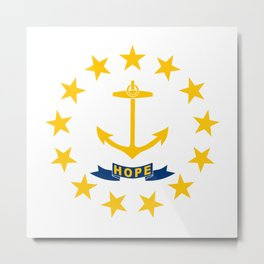 Rhode Island State Flag Metal Print