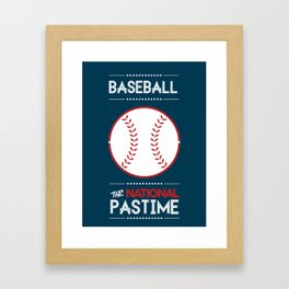 Baseball - The National Pastime Framed Art Print