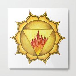SOLAR PLEXUS CHAKRA Metal Print