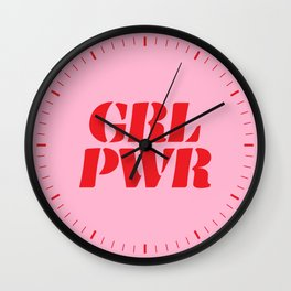Girl Power GRL PWR Wall Clock
