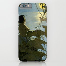 """""""The Water Baby"""" by Jessie Willcox Smith iPhone Case"""