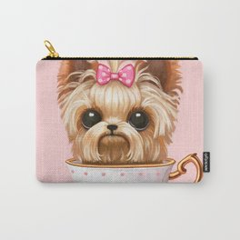 Yorkie In A Teacup Carry-All Pouch