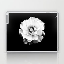 Black and White Rose Blossom... Laptop & iPad Skin