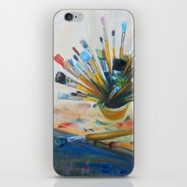 Oil studio tools iPhone Skin
