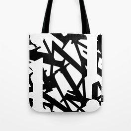 Abstract Text 1 Tote Bag