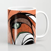 andreas preis Mugs featuring Fox // Colored by Andreas Preis