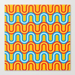 Neon Tubes Canvas Print
