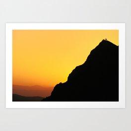 """Sunset at the mountains"". Boca de la Pescá""(1.512 meters). Art Print"