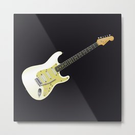 Solid Electric Metal Print