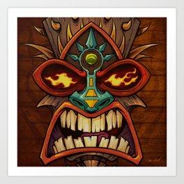 Tiki Head Style 3 Art Print
