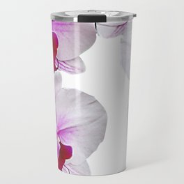 White and red Doritaenopsis orchid flowers Travel Mug