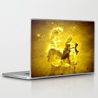 nebula Laptop & iPad Skins featuring Yellow neBUla  by 2sweet4words Designs