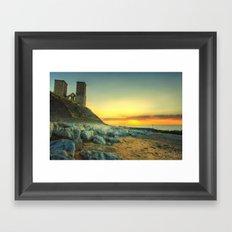 Reculver Towers At Sunset Framed Art Print