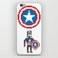 steve rogers iPhone & iPod Skins featuring Steve Rogers by Bryan