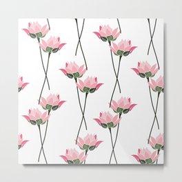Lotos flower patern Metal Print