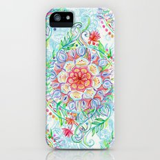 Messy Boho Floral in Rainbow Hues iPhone (5, 5s) Slim Case