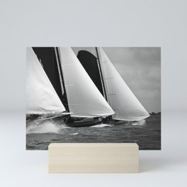 Skutsjes sailing vessels in a regatta Mini Art Print