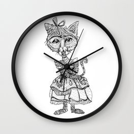 Mimsy the Mummy-Cat Ready for the Monster Mash Wall Clock