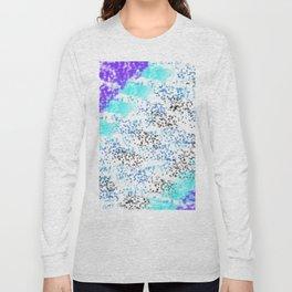 Sponge Print Blues/Purple/Black Long Sleeve T-shirt