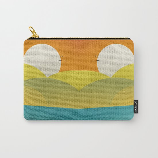 Chilaxing autumn on seaside Carry-All Pouch