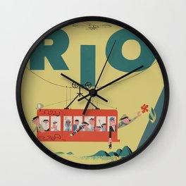 Vintage Rio Poster Wall Clock