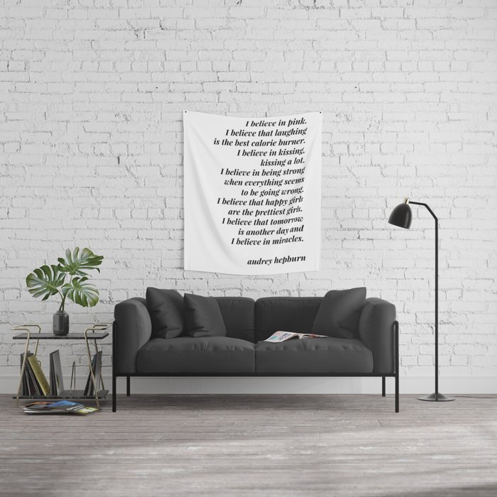 Audrey Hepburn quote Wall Tapestry